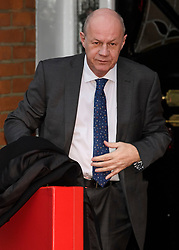 """© Licensed to London News Pictures. 05/12/2017. London, UK. First Secretary of State DAMIAN GREEN seen leaving his London home on December 5, 2017. The findings of an inquiry in to the conduct of MP Damian Green are due to be released, following allegations that """"extreme"""" pornography was found on his computer during a police raid in 2018. Green was already under investigation for allegedly propositioning former Tory activist, Kate Maltby. Photo credit: Ben Cawthra/LNP"""
