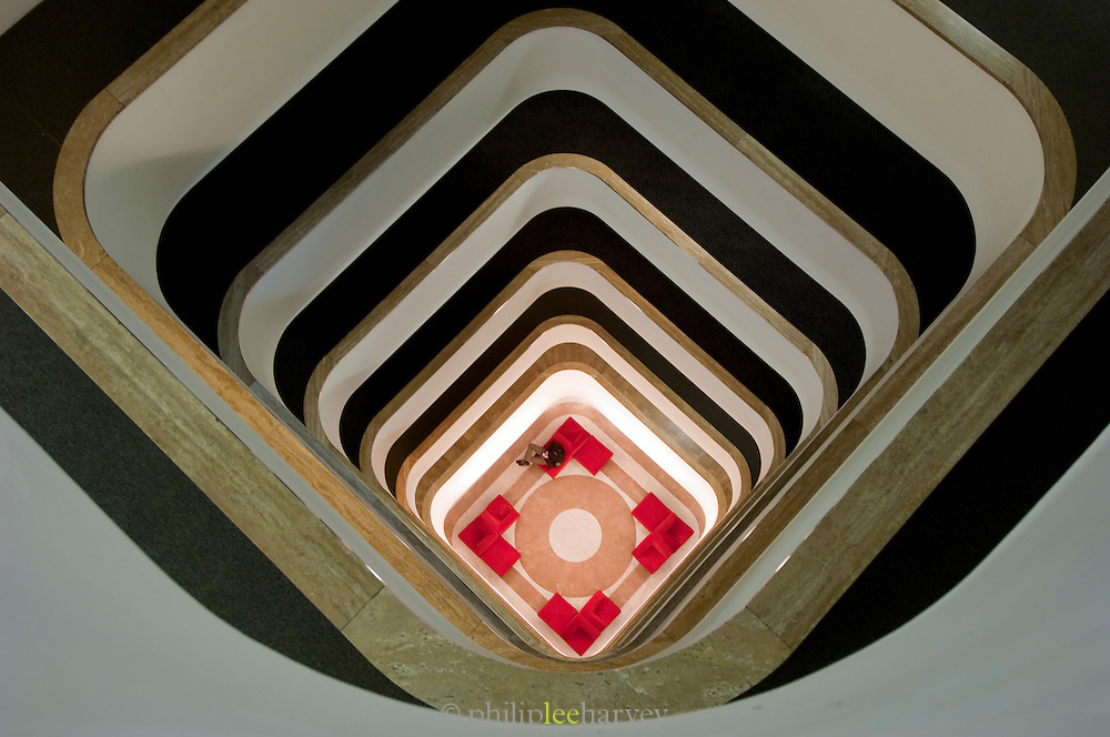 Stairwell, Riva Hotel, Rome, Italy