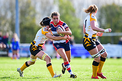 Lucy Attwood of Bristol Ladies is tackled by Alice Sheffield of Wasps Ladies - Mandatory by-line: Craig Thomas/JMP - 28/10/2017 - RUGBY - Cleve RFC - Bristol, England - Bristol Ladies v Wasps Ladies - Tyrrells Premier 15s