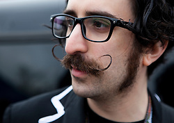 Man with Curled Pointy Moustache