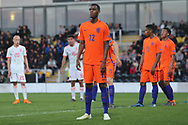 Ryan Gravenberg of Netherlands (12) during the UEFA European Under 17 Championship 2018 match between Netherlands and Spain at the Pirelli Stadium, Burton upon Trent, England on 8 May 2018. Picture by Mick Haynes.