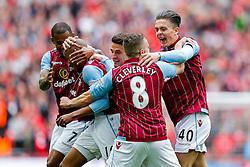 Fabian Delph of Aston Villa celebrates scoring a goal to make it 2-1 - Photo mandatory by-line: Rogan Thomson/JMP - 07966 386802 - 19/04/2015 - SPORT - FOOTBALL - London, England - Wembley Stadium - Aston Villa v Liverpool - FA Cup Semi Final.