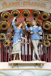 Figurines on a Gavioli fairground organ at Nottingham Riverside.