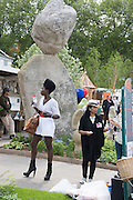 ARAMINTOU TOURE, Press view of the 2016 RHS  Chelsea Flower Show,  London.