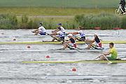 Eton Dorney, Windsor, Great Britain,..2012 London Olympic Regatta, Dorney Lake. Eton Rowing Centre, Berkshire[ Rowing]...Description;  Heat, Men's double Sculls: .Luka SPIK (b) , Iztok COP (s).LTU.M2X Rolandas MASCINSKAS (b) , Saulius .GBR M2X Bill LUCAS (b) , Sam TOWNSEND (s).NOR.M2X Nils Jakob HOFF (b) , Kjetil BORCH (s).FRA.M2X Julien BAHAIN (b) , Cedric BERREST (s).CAN M2X Michael BRAITHWAITE (b) , Kevin KOWALYK (s)..Dorney Lake. 12:30:07  Tuesday  31/07/2012.  [Mandatory Credit: Peter Spurrier/Intersport Images].Dorney Lake, Eton, Great Britain...Venue, Rowing, 2012 London Olympic Regatta...
