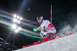 THEMENBILD - Skistar Marcel Hirscher gibt am 4. September seine Zukunftspläne in Salzburg bekannt. Seit seinem ersten Weltcupsieg 2009 inVal d'Isere gewann er den Gesamtweltcup siebenmal in Folge und steht derzeit bei insgesamt 68 Siegen. Damit zählt er zu den erfolgreichsten Skirennläufern der Geschichte. Hier im Bild: Archivbild vom 23.01.2018, Planai, Schladming, AUT, FIS Weltcup Ski Alpin, Schladming, Slalom, Herren, 1. Lauf, im Bild Marcel Hirscher (AUT) // Ski star Marcel Hirscher announces his plans for the future in Salzburg on 4 September. Since winning his first World Cup victory inVal d'Isere in 2009, he has won the overall World Cup seven times in a row and currently has a total of 68 victories. He is one of the most successful ski racers in history. Here in the picture: Marcel Hirscher of Austria in action during his 1st run of men's Slalom of FIS ski alpine world cup at the Planai in Schladming, Austria. EXPA Pictures © 2019, PhotoCredit: EXPA/ Johann Groder