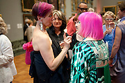 SILVIA ZIRANEK; ZANDRA RHODES, Tate Britain Summer party. Tate. Millbank. 27 June 2011. <br /> <br />  , -DO NOT ARCHIVE-© Copyright Photograph by Dafydd Jones. 248 Clapham Rd. London SW9 0PZ. Tel 0207 820 0771. www.dafjones.com.