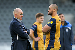 Bristol Rugby Director of Rugby Andy Robinson talks to Jack Lam (capt) after they lose 19-14 - Rogan Thomson/JMP - 08/10/2016 - RUGBY UNION - Kingston Park - Newcastle, England - Newcastle Falcons v Bristol Rugby - Aviva Premiership.