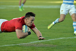 June 16, 2018 - Santa Fe, Argentina - Josh Adams of Wales races in to score during the International Test Match between Argentina and Wales at the Brigadier Estanislao Lopez Stadium, on June 16, 2018 in Sante Fe, Argentina. (Credit Image: © Javier Escobar/NurPhoto via ZUMA Press)
