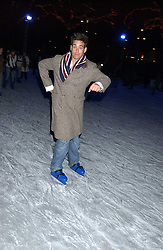 TV presenters GILES VICKERS-JONES at the opening of the Natural History Museum's Ice Rink on 16th November 2005.<br />