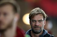 Jurgen Klopp, the Liverpool manager arrives ahead of the game. Premier league match, Swansea city v Liverpool at the Liberty Stadium in Swansea, South Wales on Monday 22nd January 2018. <br /> pic by  Andrew Orchard, Andrew Orchard sports photography.