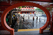 Forecourt of the Buddha Tooth Relic Temple and Museum, Singapore