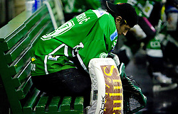 Matija Pintaric of Olimpija during 52nd Round of EBEL league ice-hockey match between HDD Tilia Olimpija, Ljubljana and EV Vienna Capitals, on February 7, 2010 in Arena Tivoli, Ljubljana, Slovenia. Vienna defeated Olimpija 8-2. (Photo by Vid Ponikvar / Sportida)