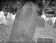 """0613-M26.  Gravestone at Christ Church, Cooperstown, NY. """"in Memory of Mr. Jabez Wight, who unfortunately drowned while bathing in the Lake, July 14th, 1794, in the 29th year of his age."""" This is mentioned in the Chronicles of Cooperstown, by James Fenimore Cooper, Chapter 3."""