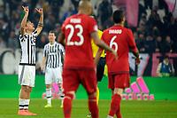 Esultanza Gol Paulo Dybala Juventus Goal celebration <br /> Torino 23-02-2016 Juventus Stadium, Football Champions League 2015/2016 Round of 16 Juventus - Bayern Munich / Juventus - Bayern Monaco .  Foto Filippo Alfero / Insidefoto