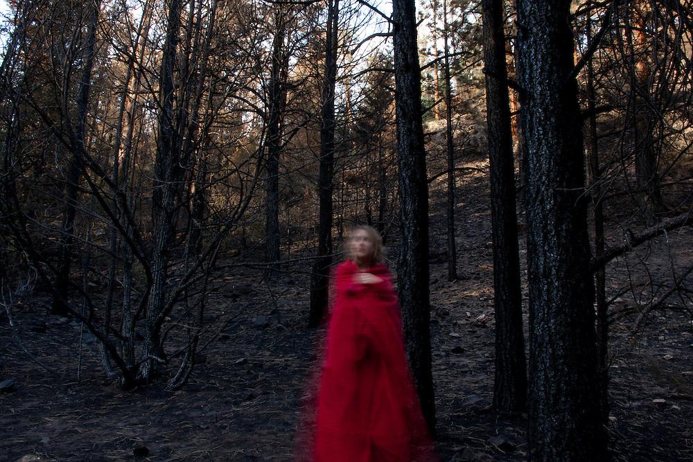 Self portrait taken in fire damaged Carson National Forest near Talpa, June 2011.