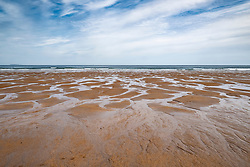 View of sand on Belhaven Beach, East Lothian, Scotland, United Kingdom