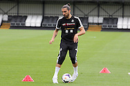 Chico Flores of Swansea city in action. Swansea city FC team training in Llandore, Swansea,South Wales on Thursday 15th August 2013. The team are preparing for the opening weekend of the Barclays premier league when they face Man Utd. pic by David Richards,  Andrew Orchard sports photography,