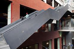 Escalator at Antwerp central railway station in Belgium