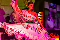 Latin American cultural stage show at Rafain Churrascaria restaurant in Foz do Iguacu, Brazil.                          The show features dance and costumes from Argentina, Bolivia, Brazil, Chile, Colombia, Mexico, Paraguay, and Uruguay.