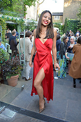 VISCOUNTESS WEYMOUTH at a party to celebrate 'A Year In The Garden' celebrating the first year of The Ivy Chelsea Garden, 197 King's Road, London on 16th May 2016.