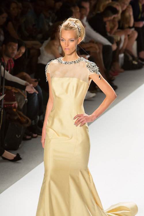 Yellow gown. By Zang Toi, shown at his Spring 20132 Fashion Week show in New York.