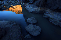 An abstraction of a reflection for a mountain after a rainy day!