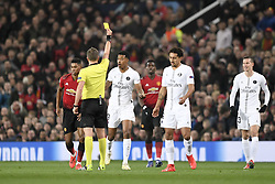 February 12, 2019 - Manchester, France - 03 PRESNEL KIMPEMBE (PSG) - CARTON JAUNE - DECEPTION (Credit Image: © Panoramic via ZUMA Press)
