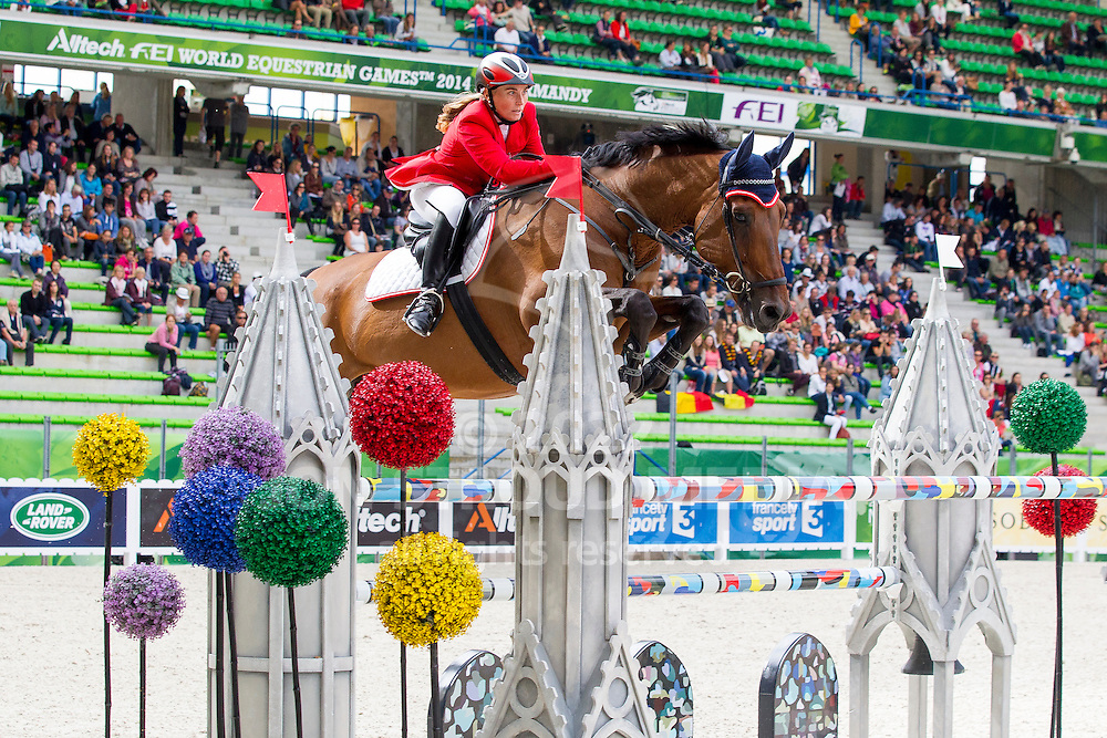Astrid Kneifel, (AUT), Royal Des Bissons - Team & Individual Competition Jumping Speed - Alltech FEI World Equestrian Games™ 2014 - Normandy, France.<br /> © Hippo Foto Team - Leanjo De Koster<br /> 02-09-14