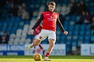 Fleetwood Town forward Ched Evans (9) during the warm up before the EFL Sky Bet League 1 match between Gillingham and Fleetwood Town at the MEMS Priestfield Stadium, Gillingham, England on 3 November 2018.<br /> Photo Martin Cole