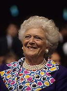 First Lady Barbara Bush in June 1990..Photograph by Dennis Brack bb30