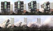 Demolition of Edgbaston Towers in Birmingham.Picture by Shaun Fellows/Shine Pix