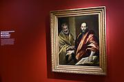 Kunsttentoonstelling Spaanse Meesters uit de Hermitage. Samen vertellen de werken de opkomst en glorie van de Spaanse kunst, de Gouden Eeuw, waarvan de invloed tot in de moderne tijd zou reiken. <br /> <br /> Op de foto: El Greco: Petrus en Paulus