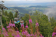 Cable car to the peak of Schauinsland, from Freiburg im Breisgau, Germany, Baden-Wurttemberg