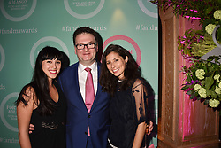 Melissa Hemsley, Ewan Venters and Jasmine Hemsley at the 2017 Fortnum & Mason Food & Drink Awards held at Fortnum & Mason, Piccadilly London England. 11 May 2017.<br /> Photo by Dominic O'Neill/SilverHub 0203 174 1069 sales@silverhubmedia.com