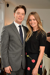 FREDDIE FOX and CRESSIDA BONAS at a lunch to promote the jewellery created by Luis Miguel Howard held at Morton's, Berkeley Square, London on 20th October 2016.