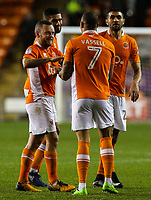 Blackpool's Kyle Vassell celebrates scoring his side's first goal with teammates<br /> <br /> Photographer Alex Dodd/CameraSport<br /> <br /> The EFL Sky Bet League One - Blackpool v Gillingham - Tuesday 21st November 2017 - Bloomfield Road - Blackpool<br /> <br /> World Copyright © 2017 CameraSport. All rights reserved. 43 Linden Ave. Countesthorpe. Leicester. England. LE8 5PG - Tel: +44 (0) 116 277 4147 - admin@camerasport.com - www.camerasport.com