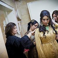 Rahel Berdugo during her Henna ceremony and celebration, a week before her wedding in Jerusalem.