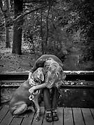 Robyn Stauffer & Chloe in the Bliss Arboretum