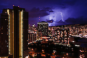 Unusual lightning strikes the island of Oahu resulting in a complete power failure on the island.