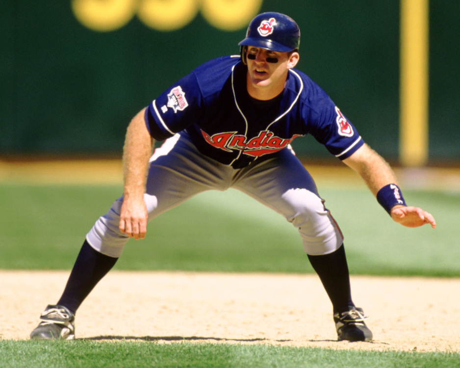 OAKLAND - 1995:  Jim Thome of the Cleveland Indians runs the bases during an MLB game at the Oakland Coliseum in Oakland, California during the 1995 season. (Photo by Ron Vesely) Subject:   Jim Thome