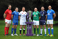 Rugby Union - 2018 Natwest Six Nations Launch Press Conference - Syon Park Hilton<br /> <br /> Captans : l-r Alun Wyn Jones of Wales, Guilhem Guirado of France, Dylan Hartley of England,Rory Best of Ireland, John Barclay of Scotland and Sergio Parisse of Italy<br /> <br /> COLORSPORT/ANDREW COWIE