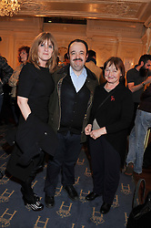 Left to right, Siobhan Finneran, Hugh Sachs and Janine Duvitski at an after show party following the cast change from 'One Man, Two Guvnors' held at the Theatre Royal Haymarket, London on 12th February 2013.