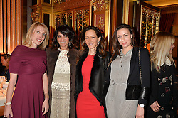 Left to right, Eva Alexandridis, Rena Sindi, Batia Ofer and Ina Dimitrova at the Cash & Rocket Tour Announcement Launch Lunch in association with McArthur Glen was held at The Grill, The Dorchester, Park Lane, London on 12th March 2015.