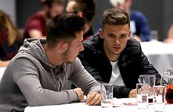 Jamie Paterson and Josh Brownhill of Bristol City take part in the Community Trust Quiz - Mandatory by-line: Robbie Stephenson/JMP - 19/09/2016 - FOOTBALL - Ashton Gate - Bristol, England - Bristol City Community Trust Quiz