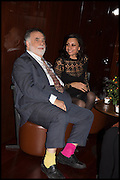 FRANCIS FORD COPPOLA; JACQUI SOLIMAN, Liberatum Cultural Honour for Francis Ford Coppola<br /> with Bulgari Hotel & Residences, London. 17 November 2014
