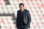 Arsenal manager Unai Emery walking the pitch on arrival at the Vitality Stadium before the Premier League match between Bournemouth and Arsenal at the Vitality Stadium, Bournemouth, England on 25 November 2018.