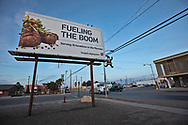 Billboard in Pecos Texas in the Permian Basin.