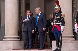 July 14, 2017 - Paris, France - DONALD TRUMP QUITTE L' ELYSEE SOUS L' ESCORTE D' EMMANUEL MACRON (Credit Image: © Visual via ZUMA Press)