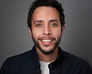 Actor Carlos Flores poses for a headshot at SOSKIphoto in Hayward, California, on August 9, 2020. (Stan Olszewski/SOSKIphoto)